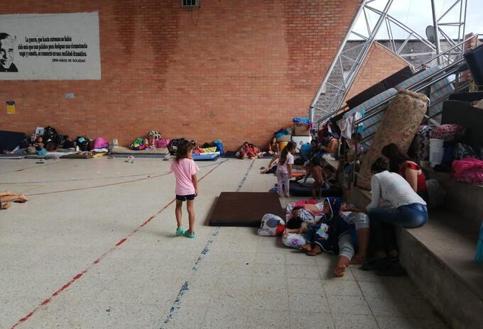 Niños en albergues de Arauquita