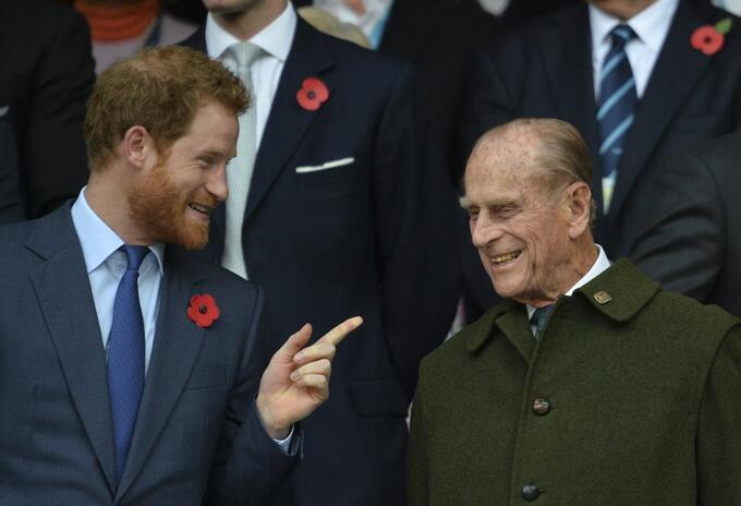 Príncipes Harry y Felipe