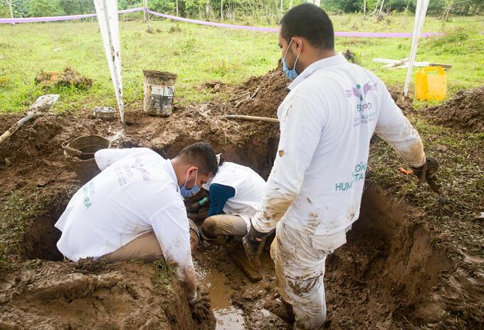 Búsqueda de los cuerpos en Chocó.