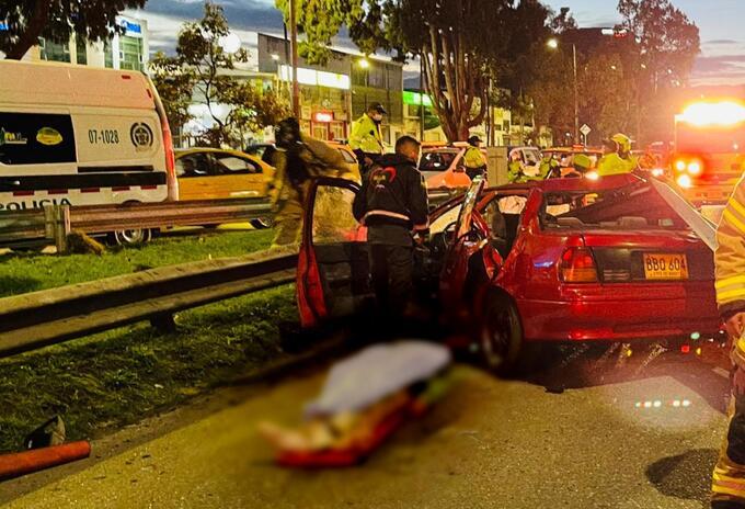 Accidente en Bogotá cerca al aeropuerto El Dorado