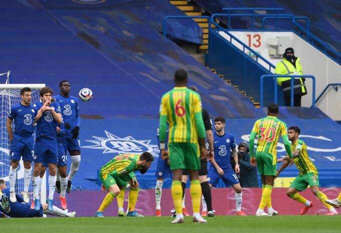 Chelsea cayó goleado en casa ante el West Bromwich Albion