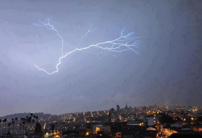 En Manizales fuertes tormentas eléctricas se han registrado en la última semana.