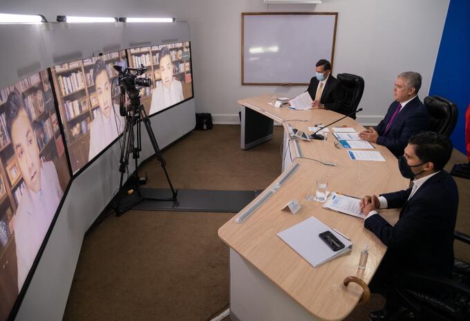 El presidente Iván Duque en la cumbre sobre acción climática