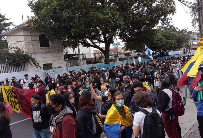 Protestas estudiantiles en la Universidad Pedagógica