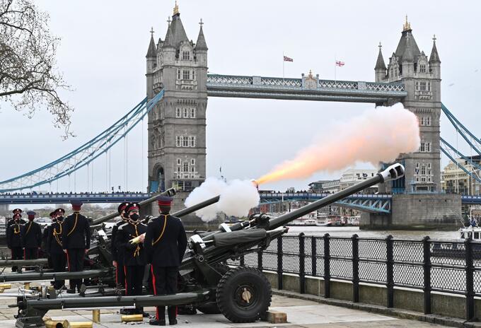 Salvas de cañón en homenaje al príncipe Felipe tras su muerte