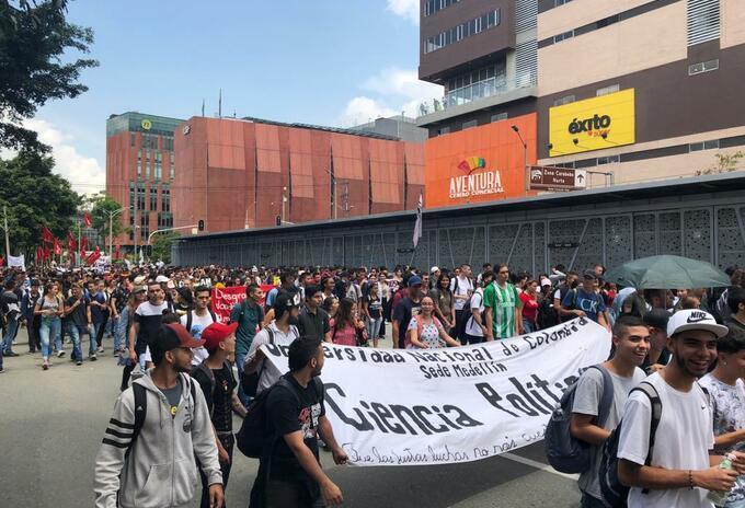 Movilizaciones en Antioquia. (Imagen referencial).