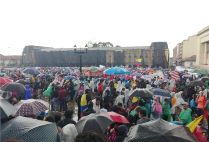 Manifestación Plaza de Bolívar