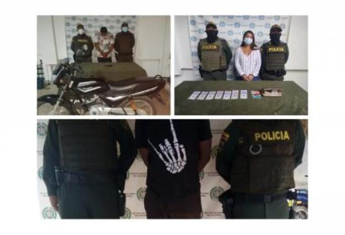 Por los delitos de hurto y porte ilegal de armas fueron capturadas tres personas en Sincelejo,y San Onofre, Sucre