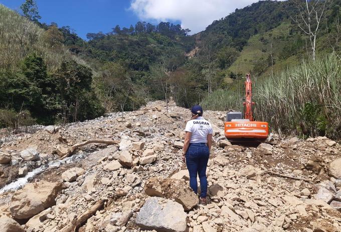 Atención de emergencias ocasionadas por las lluvias en Antioquia.