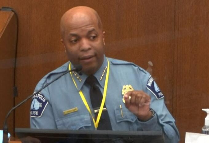 Jefe de policía de Minneapolis, Medaria Arradondo, en juicio por muerte de George Floyd