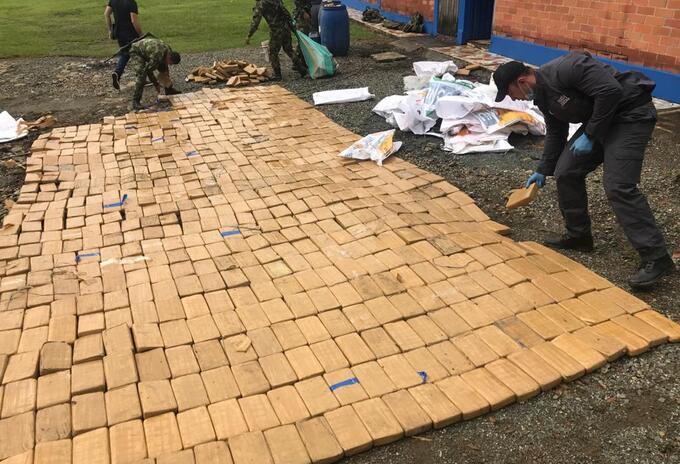 Este fue el clorhidrato de cocaína que fue incautado por la Fiscalía y el Ejército en Valle del Cauca
