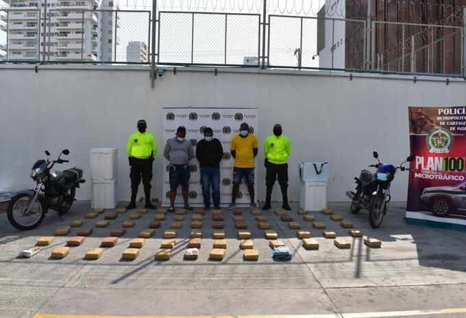 Incautan 68 mil dosis de marihuana que pretendían ser distribuidas en puntos de expendio de Cartagena