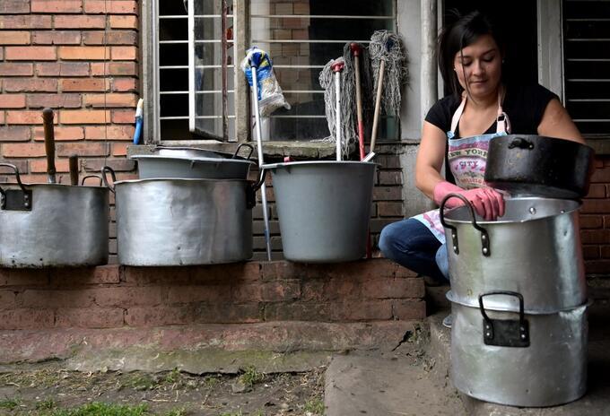 María Edilma Aguilar perdió su trabajo debido a la pandemia.