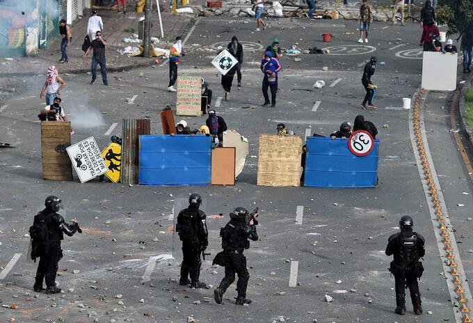 Disturbios en el sector de La Loma, en Cali