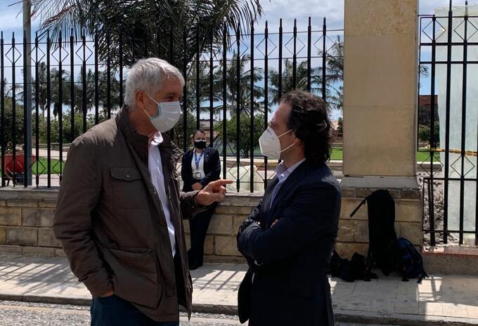 Enrique Peñalosa y Federico Gutiérrez.