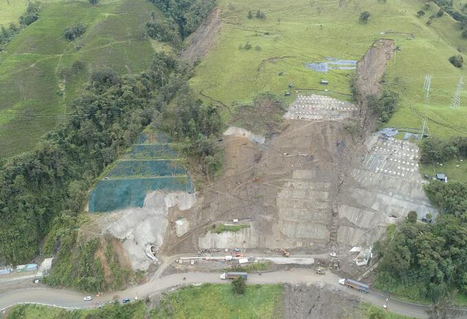 Sector Cinabrio Kilometro 37 vía La Línea - Archivo Invias