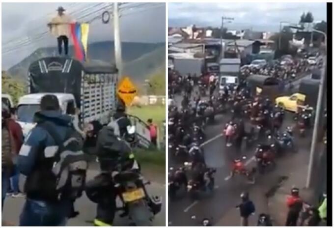 Bloqueos en Cundinamarca