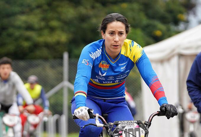 Mariana Pajón ganó su segundo título en la Copa Mundo BMX de Bogotá