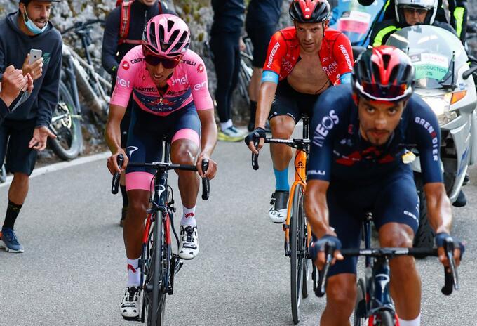 Daniel Martínez quedó en el Top 5 en el Giro de Italia 2021