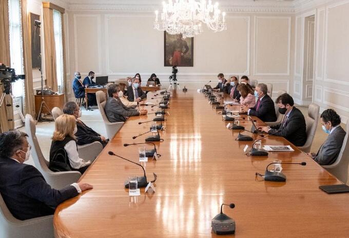 Altas Cortes y Presidencia dialogo Paro Nacional