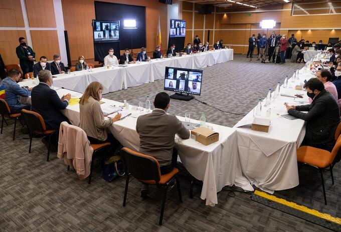 Iván Duque se reunió con gobernadores