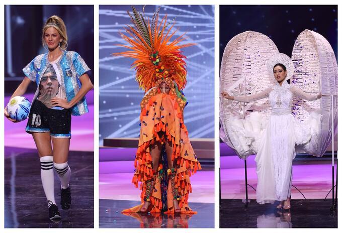 Desfile en traje típico en Miss Universo 2021