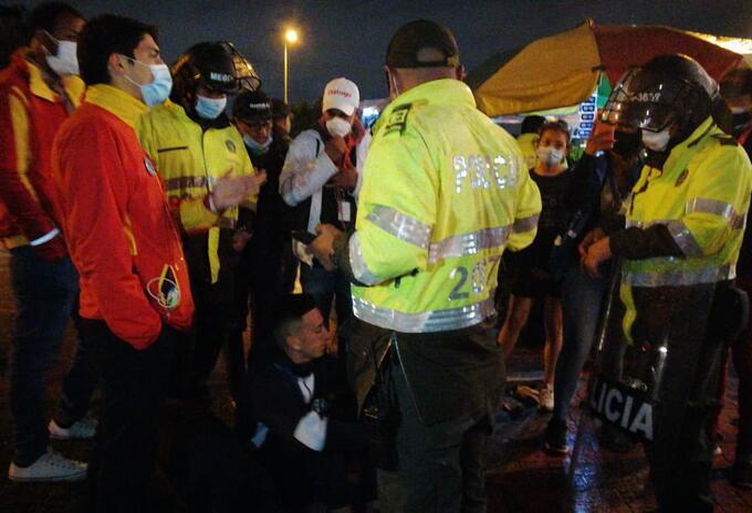 Policía protestas