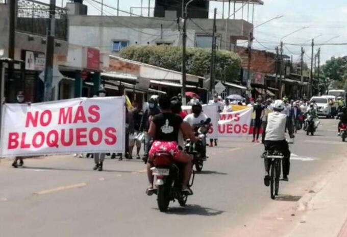 Gremio de comerciantes rechaza bloqueos en Barrancabermeja