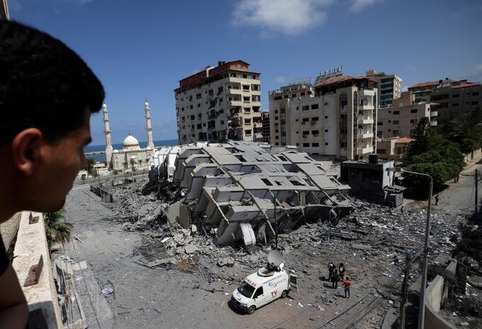 Bombardeo en Franja de Gaza el 12 de mayo de 2021