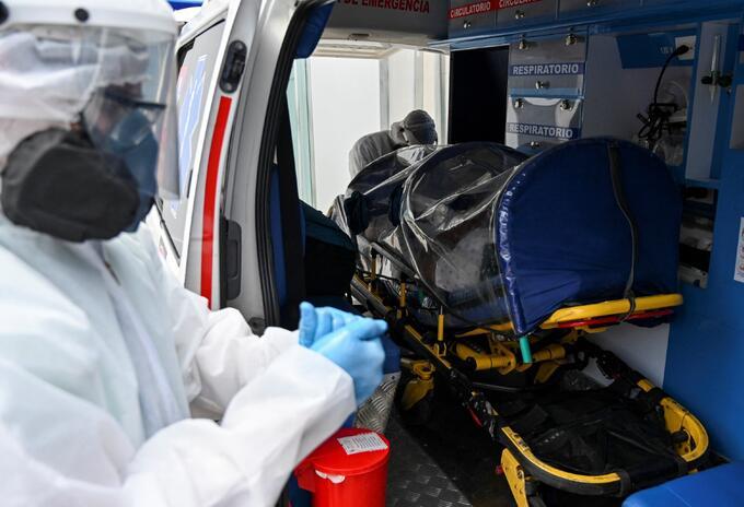 Pacientes contagiados de covid-19 en Colombia
