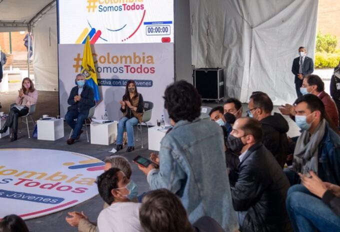 Reunión de Duque y Jóvenes en Bogotá