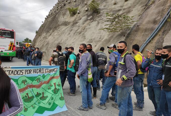 Afectados de Hidroituango protestas en Ituango, Norte de Antioquia.