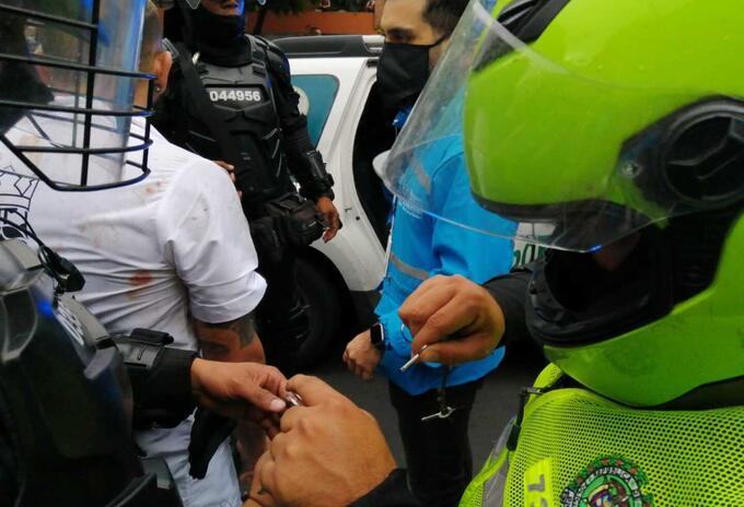 Capturas tras los disturbios en Medellín.