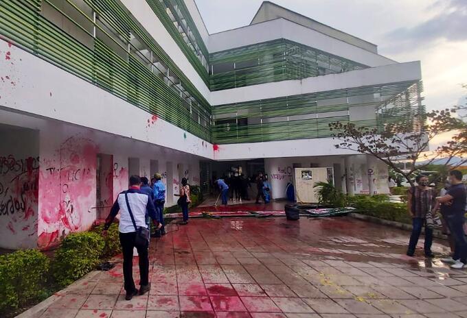 Policía entregó balance de los daños en Bucaramanga, luego de la última jornada de manifestaciones