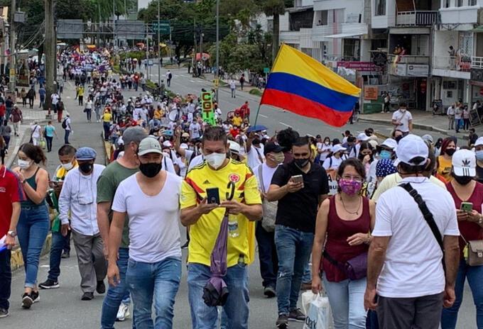 Las autoridades en el Quindío buscan coordinar corredores humanitarios