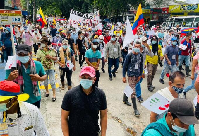 Marchas en Colombia mayo 19.
