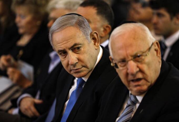 Benjamin Netanyahu y Reuven Rivlin