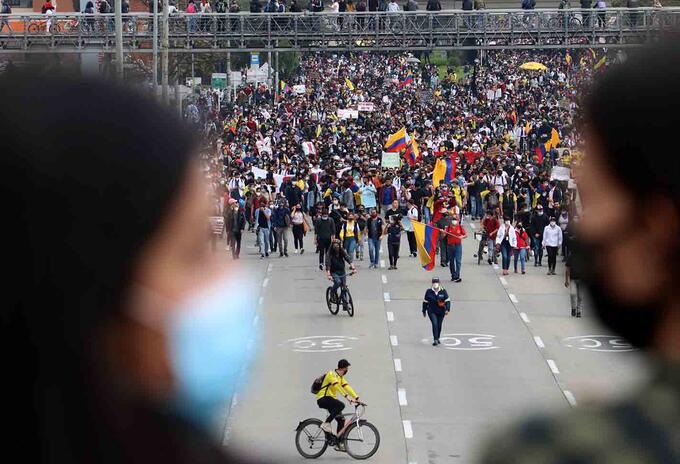 Paro nacional 5 de mayo: manifestantes marcharon por calles de Bogotá