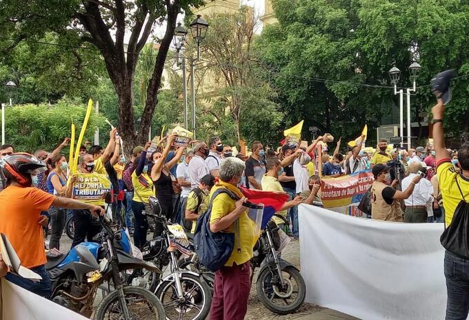 Protestas en Cúcuta contra Reforma Tributaria