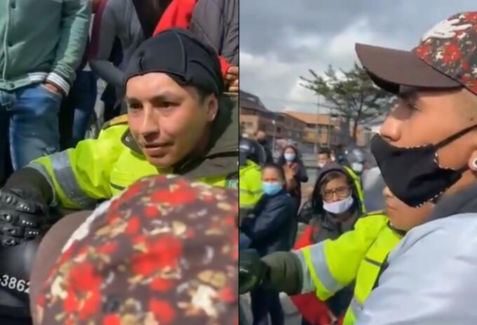 Policía se sentó con manifestantes a hablar para desbloquear las Américas