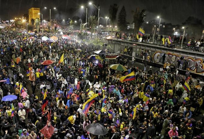 Protestas en Bogotá 28 de mayo 2021 en el sector de Héroes.