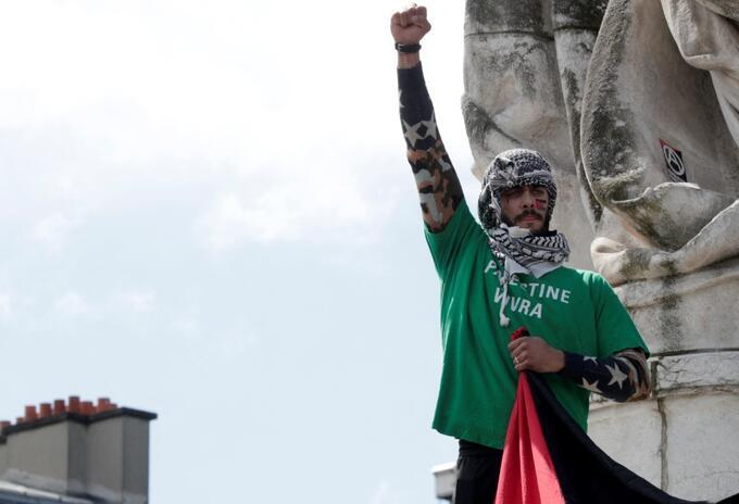 Protestas en Francia a favor de Palestina