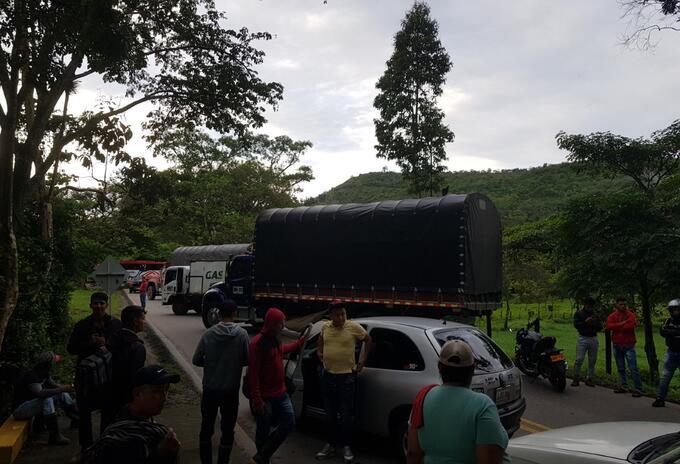 Bloqueo la vía Cúcuta- Tibú-Ocaña