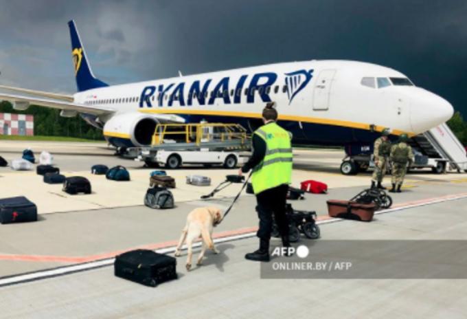 Vuelo de Ryanair interceptado por Bielorrusia para capturar a un opositor