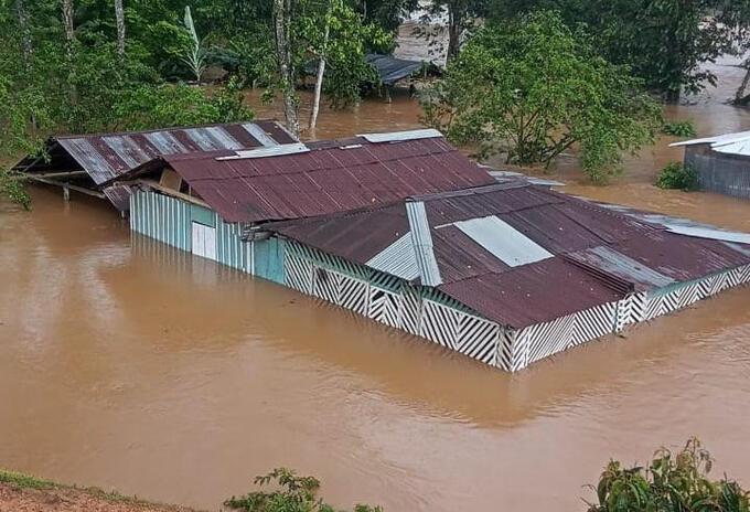 Inundaciones por las lluvias en Antioquia.