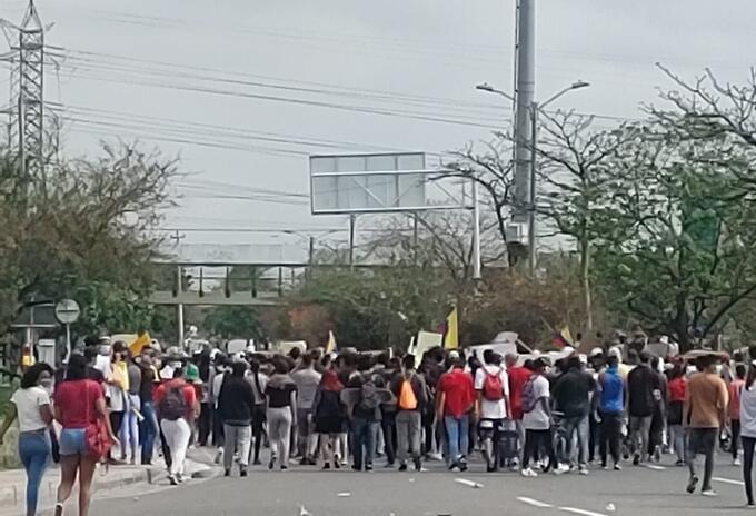 Marcha desarrollada el 3 de mayo en Barranquilla