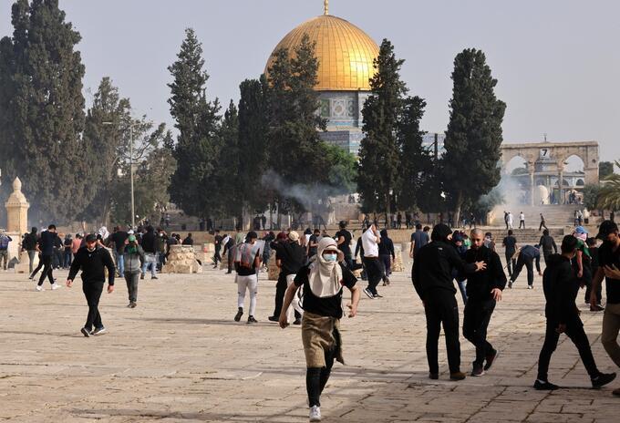 Enfrentamientos en Jerusalén