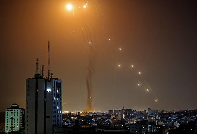 Ataque con cohetes entre Israel y Palestina