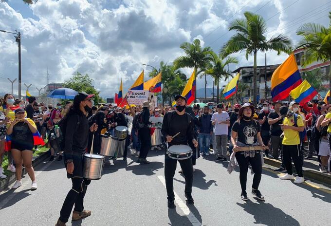 Marcha de la Indignación en Pereira