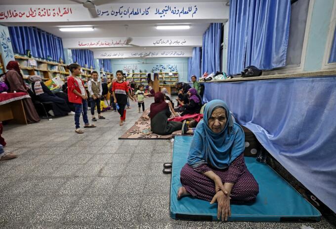 Refugios en Gaza